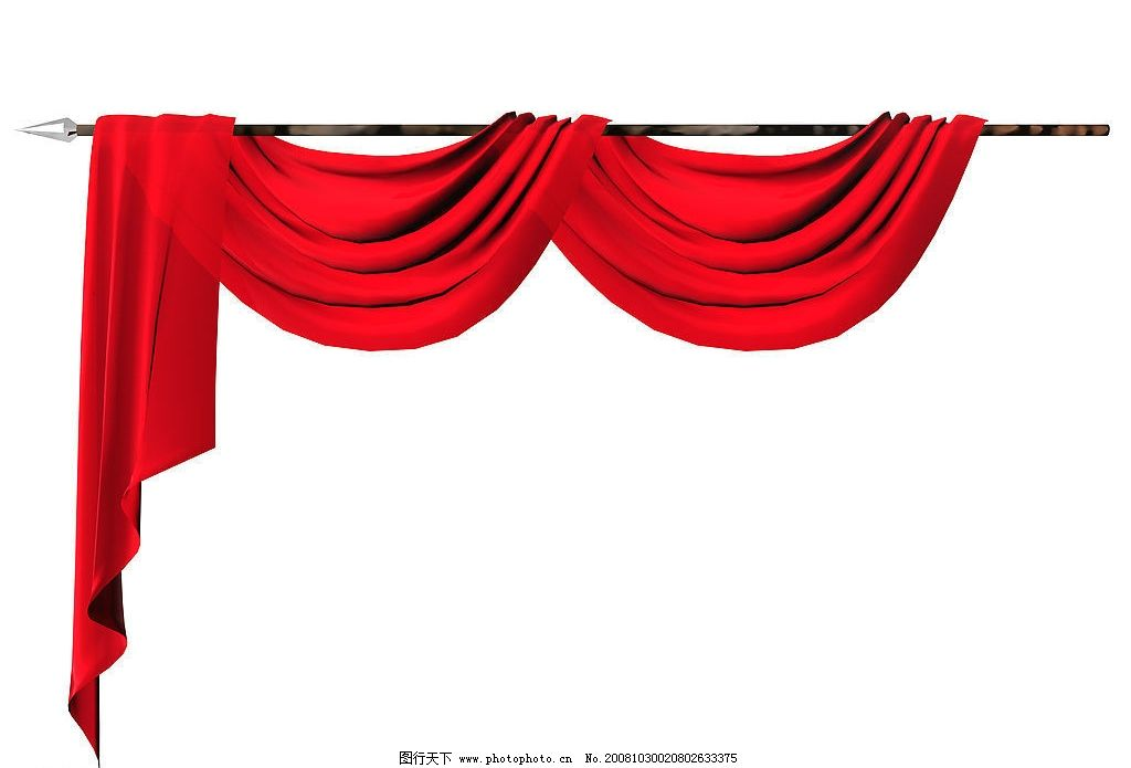 红色幕布 幕布 底纹边框