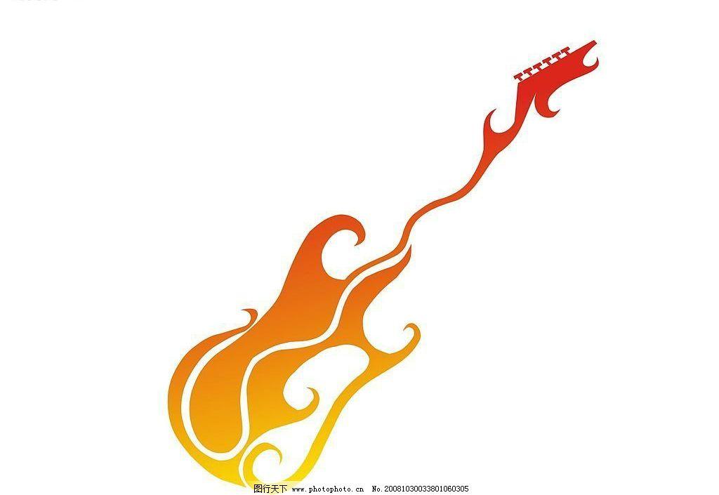 花纹吉他图片
