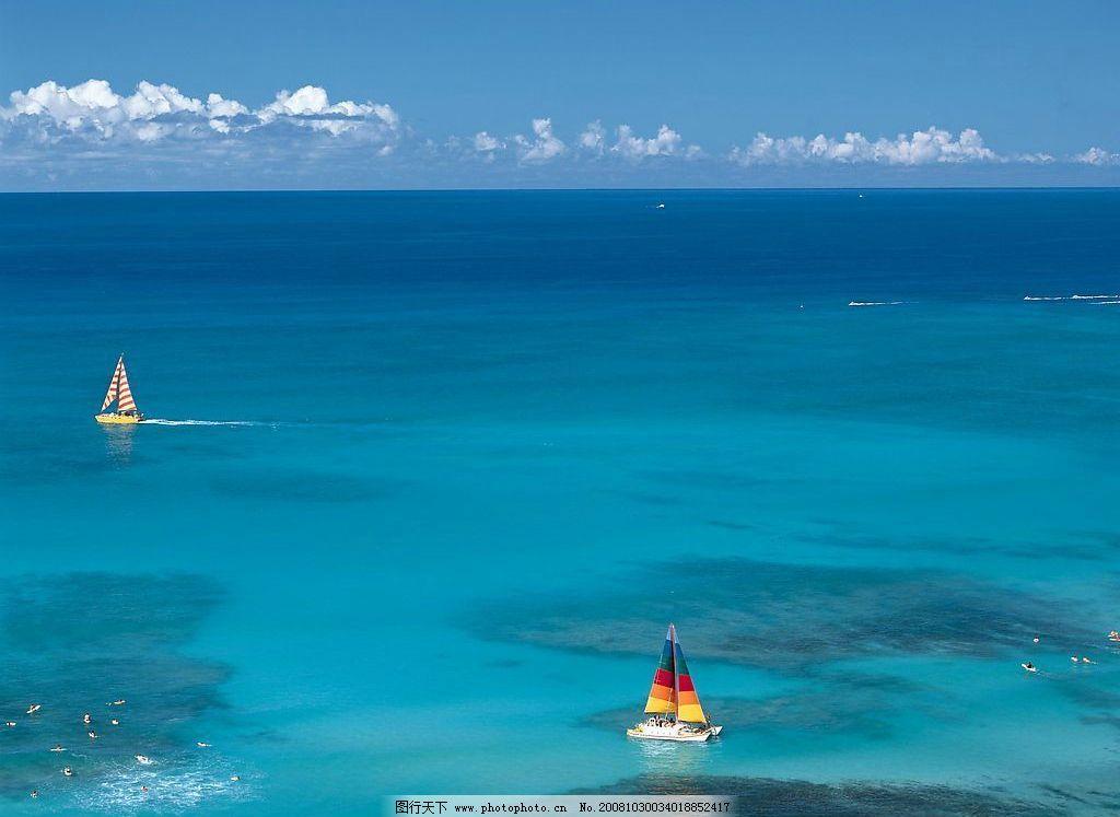 夏威夷风光 海边 水 沙滩 海水 风景 国外旅游 摄影图库