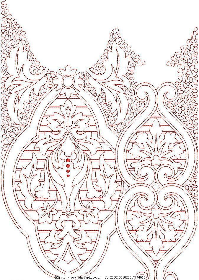 花纹 绣花 绗缝花型 图案 针法 底纹边框 花边花纹