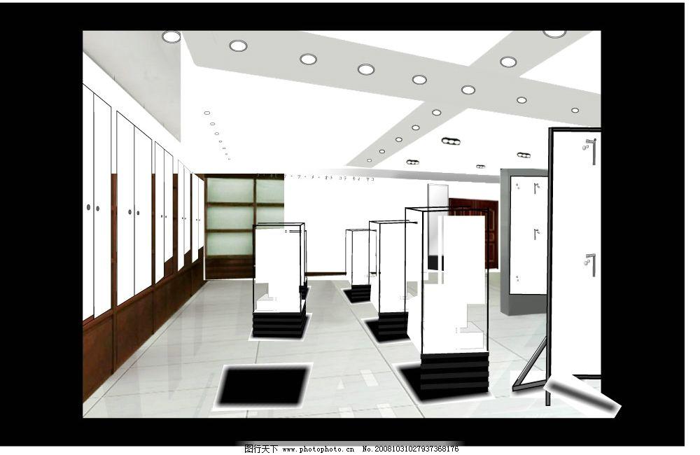 展厅 室内设计 室内装修 装修        装修图 图纸 展室 展柜 cdr