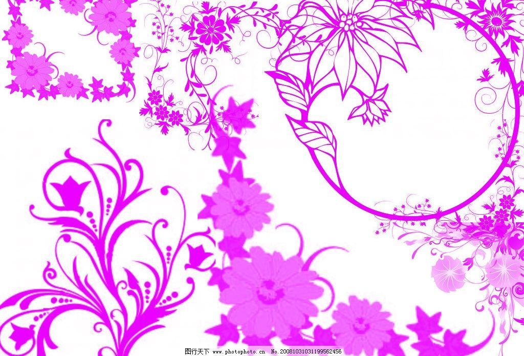 超酷花卉花纹ps笔刷