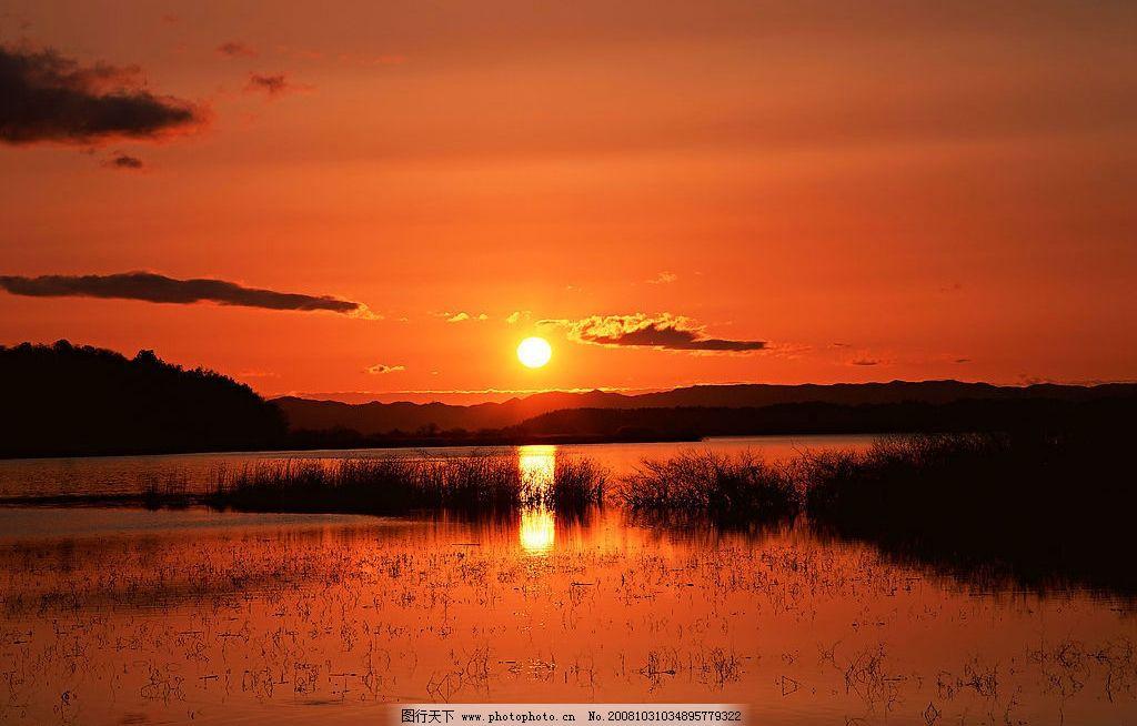 夕阳无限好 海边风景 落日 自然景观 自然风景 摄影图库