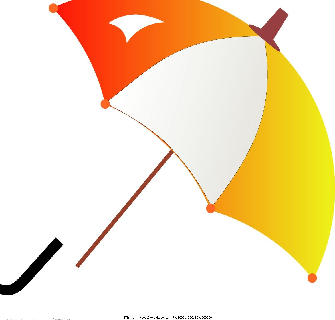 雨伞 爱心伞 护心伞 关心伞 文化艺术 美术绘画 矢量图库 cdr