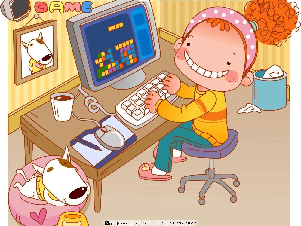 小女孩弹琴图片