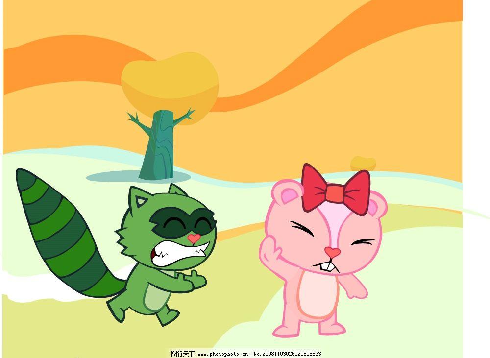 卡通小动物的故事图片