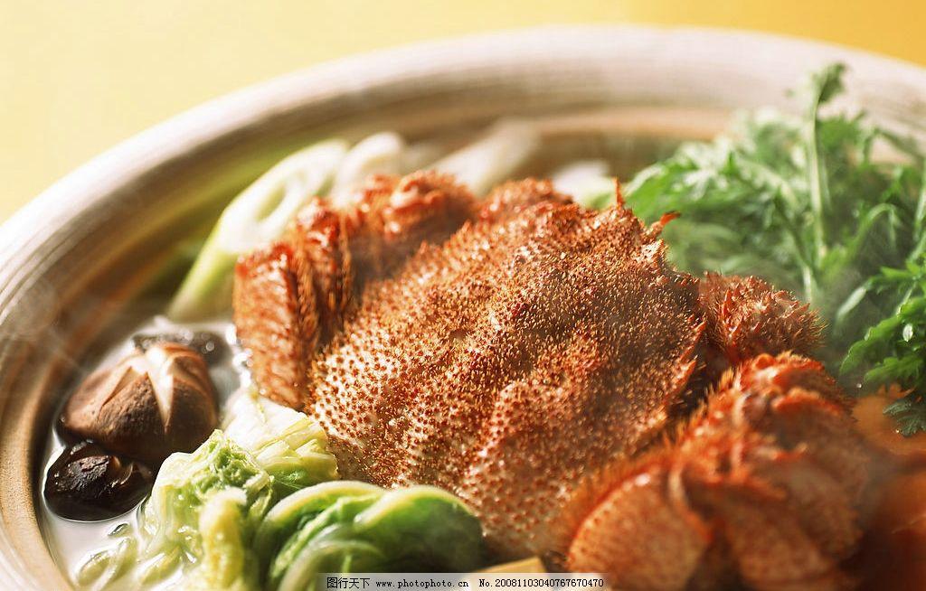 螃蟹 螃蟹火锅 盘子 面 餐饮美食 摄影图库