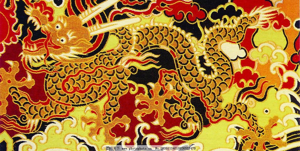 翻江龙 龙 龙珠 浪花 波浪 云朵 祥云 底纹 文化艺术 传统文化 设计图
