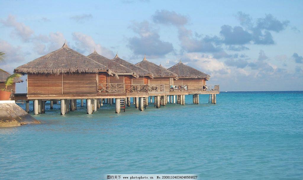 马尔代夫海边木屋图片