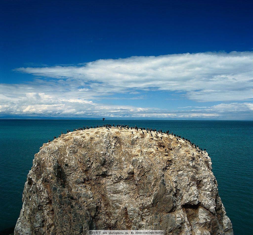 望夫崖 海边 大海 天空 白云 蓝天 石头 石崖 摄影图库