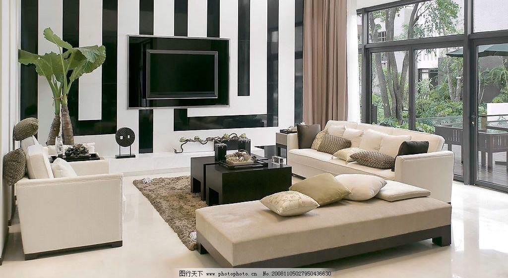 时尚客厅      室内 家具 家居 沙发 窗户 电视 电视墙 地板 环境设计
