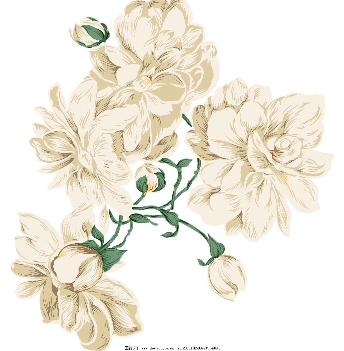 韩国手绘花纹 时尚 浪漫 韩国风格 玻璃 移门 彩绘 插画 摄影素材