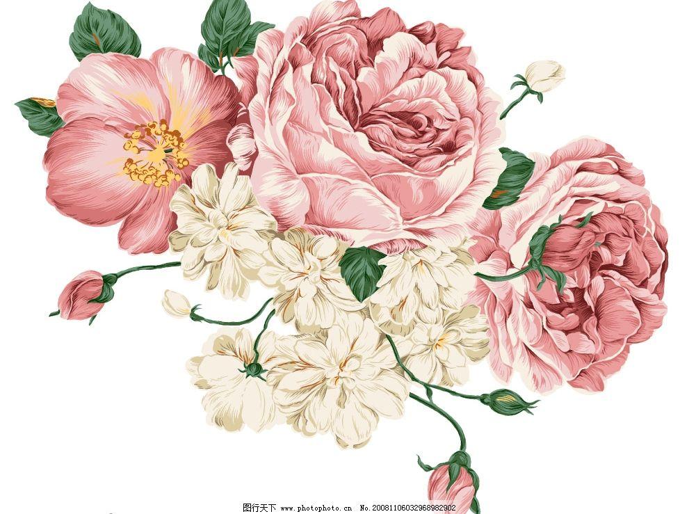韩国手绘花纹图片