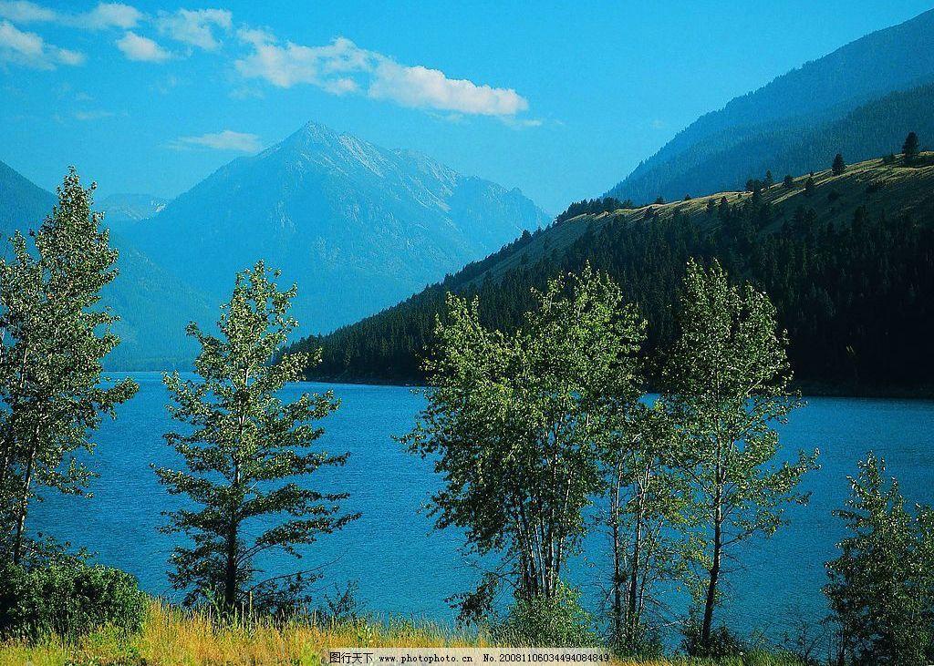山恋 水 山水 湖 湖水 树木 野草 自然生态 优美环境 自然景观 山水
