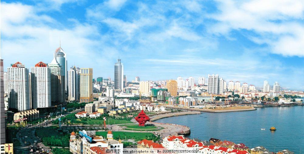 青岛风光 海边风光 美丽风景 psd分层素材 风景 源文件库 300dpi psd