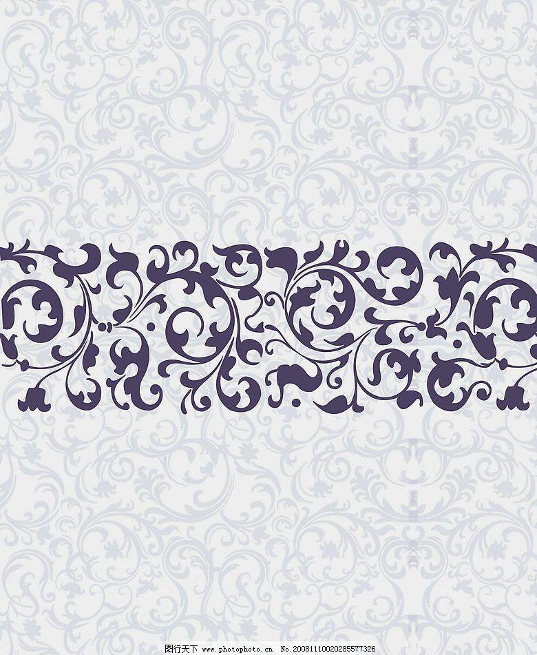 紫色巴洛克 紫色花纹 底纹边框 背景底纹 设计图库 72dpi jpg