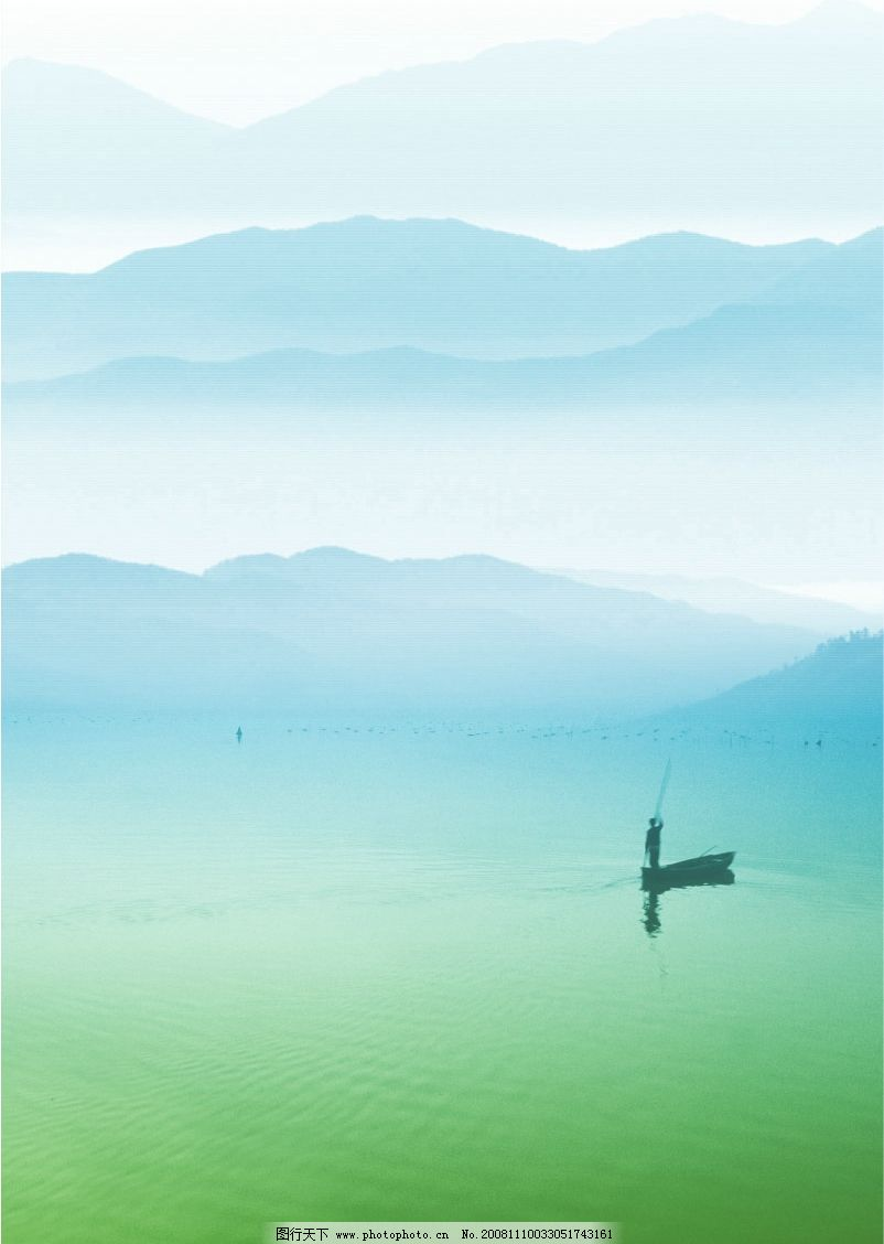 湖光山水图片