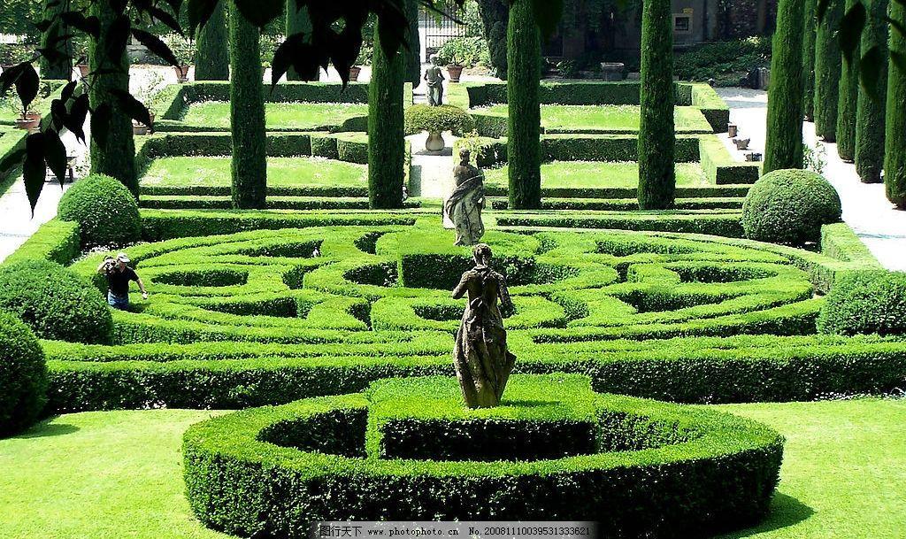 欧式花园 欧式建筑 欧式园林