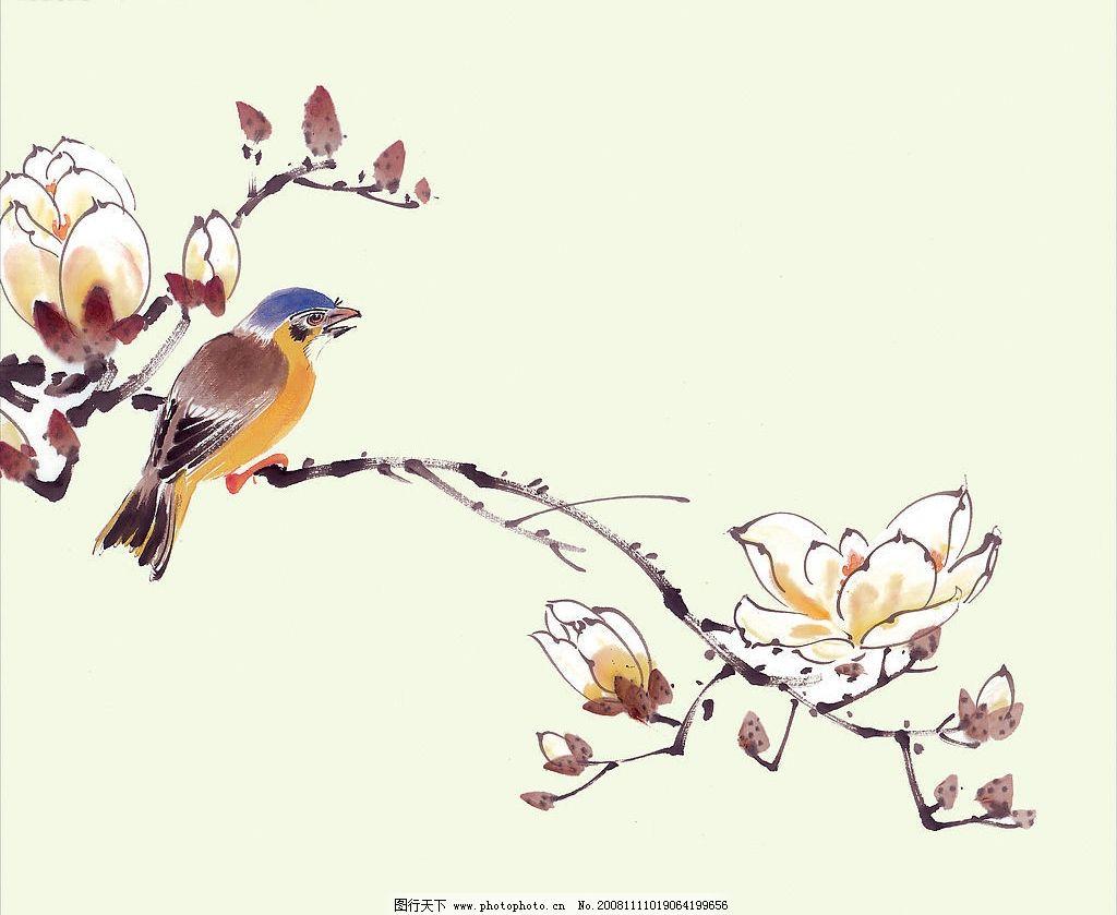血啼杜鹃 国画 杜鹃 花 文化艺术 绘画书法 设计图库 300dpi jpg