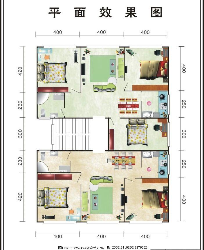房屋平面设计图 建筑家居 传统建筑 矢量图库