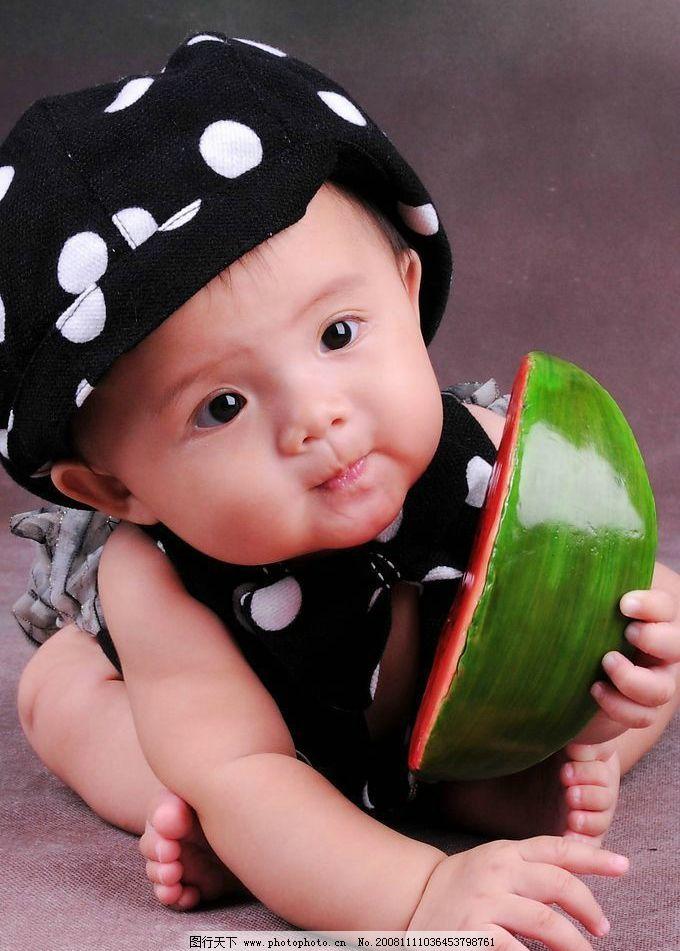 西瓜孩子图片可爱