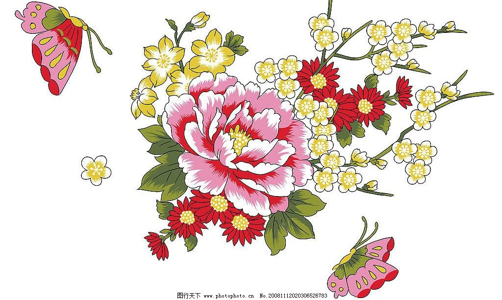单朵艳丽配色花纹 单朵 艳丽 配色 花纹 背景 花 花朵 柔美 漂亮 古典