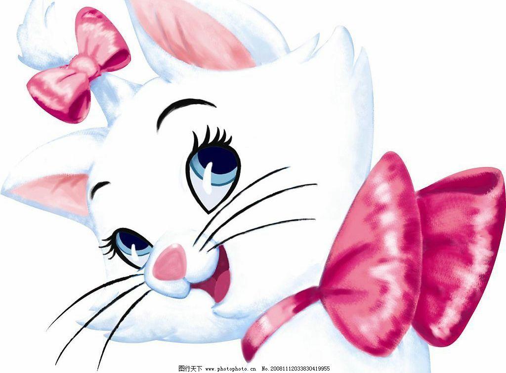可爱猫猫 胡须 蝴蝶结 大眼 卡通 高清 调皮 活泼 源文件库