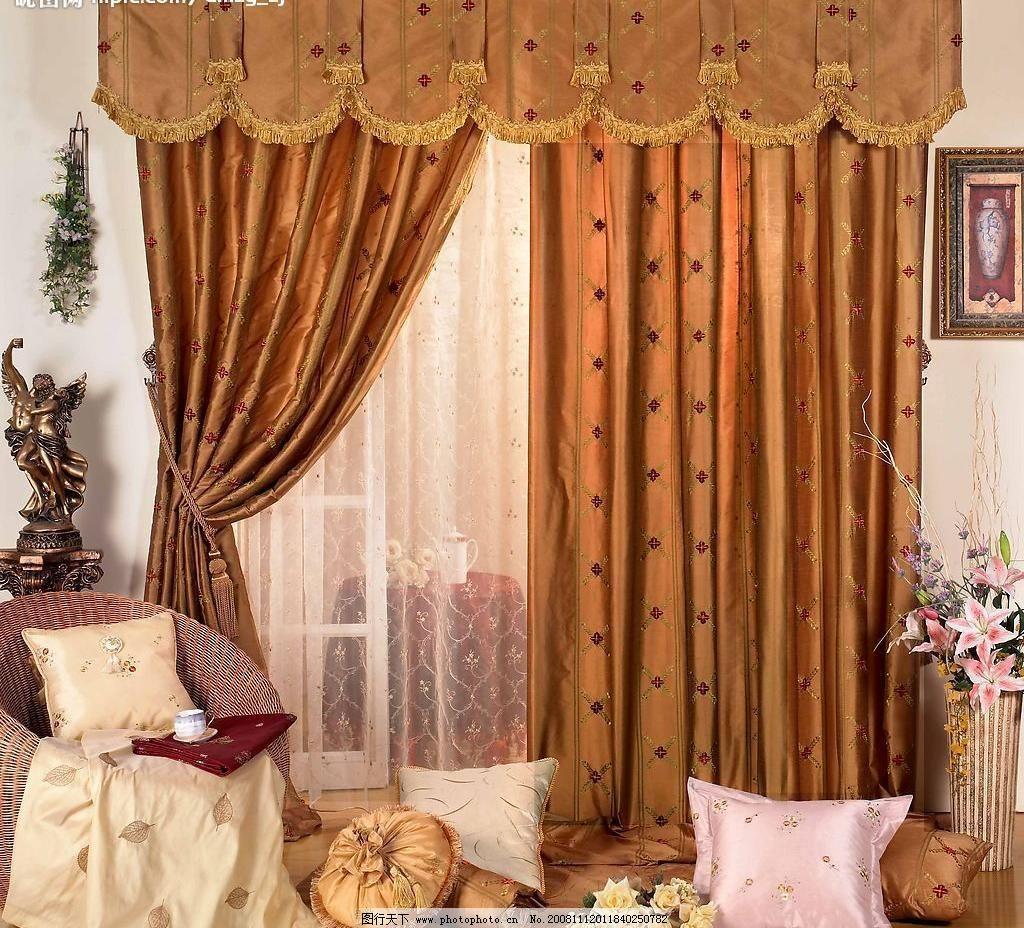 jpg 窗帘 床上用品 典雅 豪华 花纹 家居生活 家具 经典 欧式 窗帘