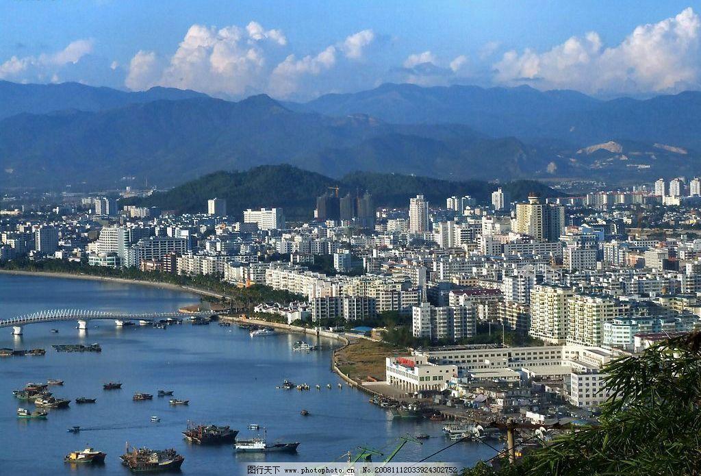美丽的海湾 三亚 海南 摄影 旅游 城市 建筑 天空 大海 船