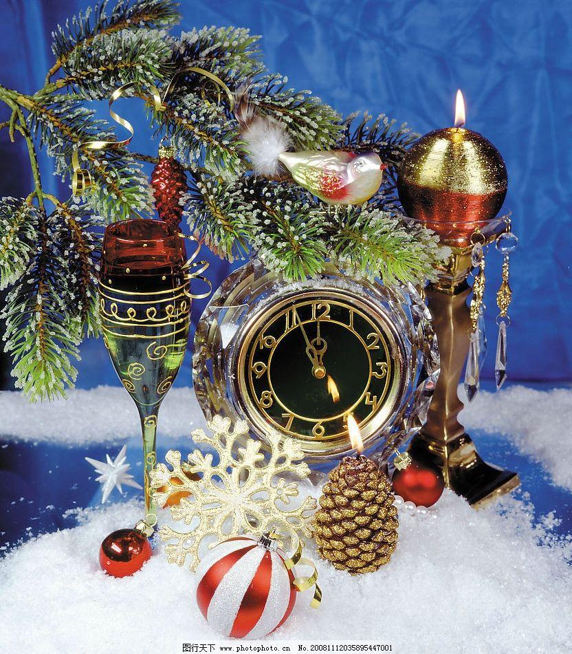 圣诞装饰品图片_树木树叶_生物世界_图行天下图库