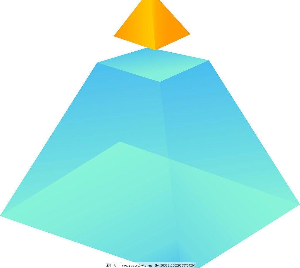 立体三角形 蓝色 黄色 立体 三角形 ai 广告设计 vi设计 矢量图库