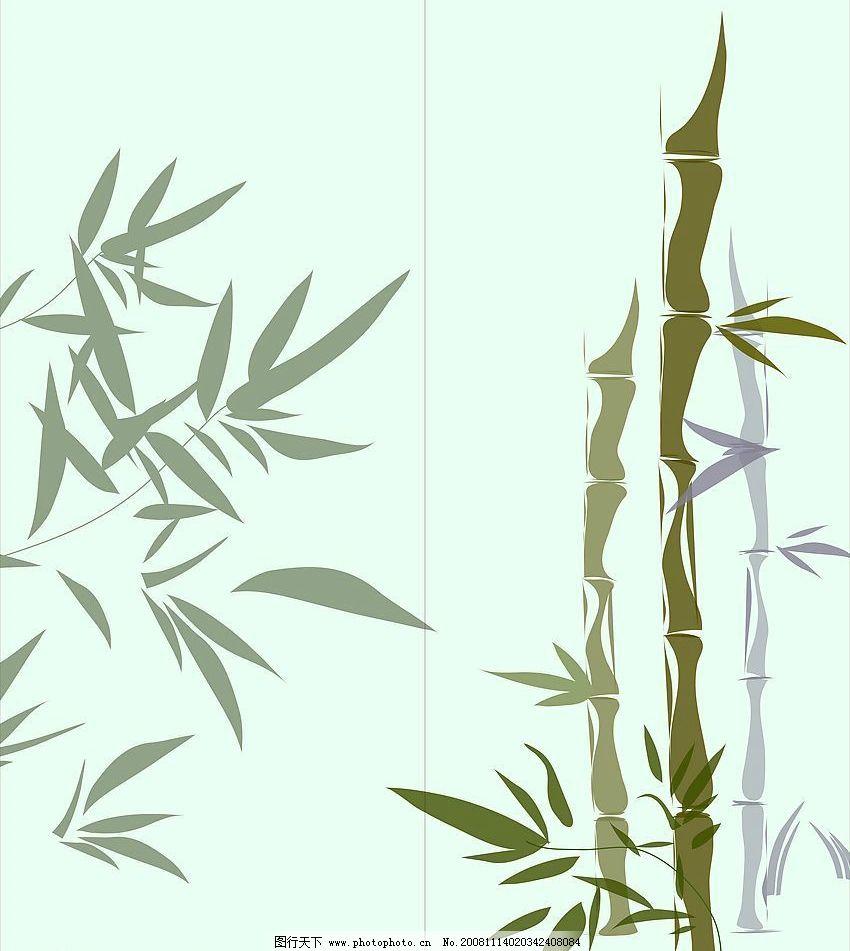 竹子 竹叶 底纹边框 花纹花边 矢量图库