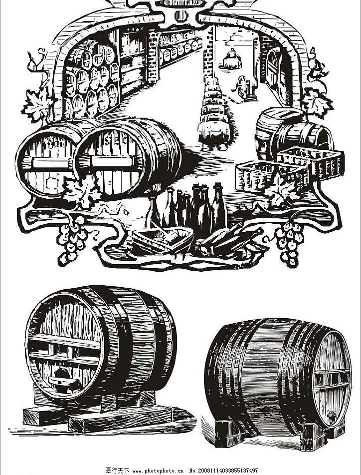 葡萄酒矢量素材图片