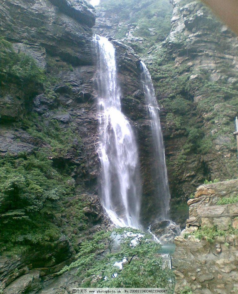 庐山 望庐山瀑布 自然景观 风景名胜 摄影图库 300dpi jpg