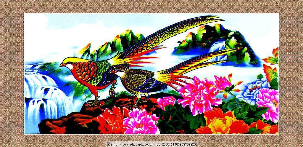 凤凰 室内 门头 装饰画 文化艺术 绘画书法 设计图库 72dpi jpg