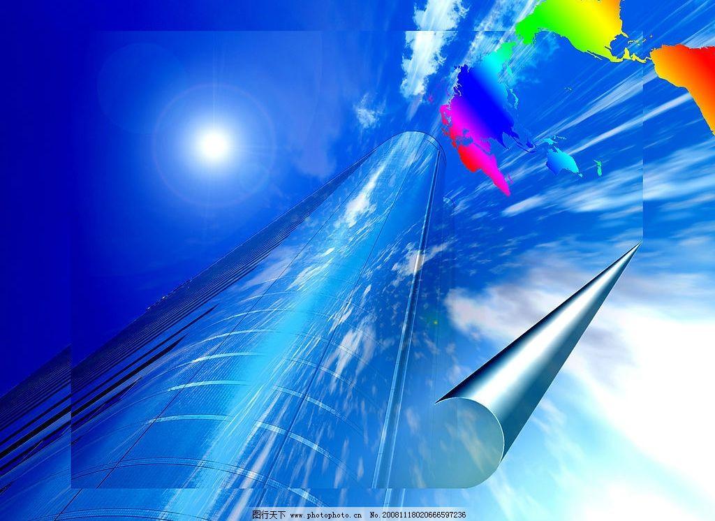 底纹 科幻背景 建筑 云朵 阳光 太阳 底纹边框 抽象底纹 设计图库 350