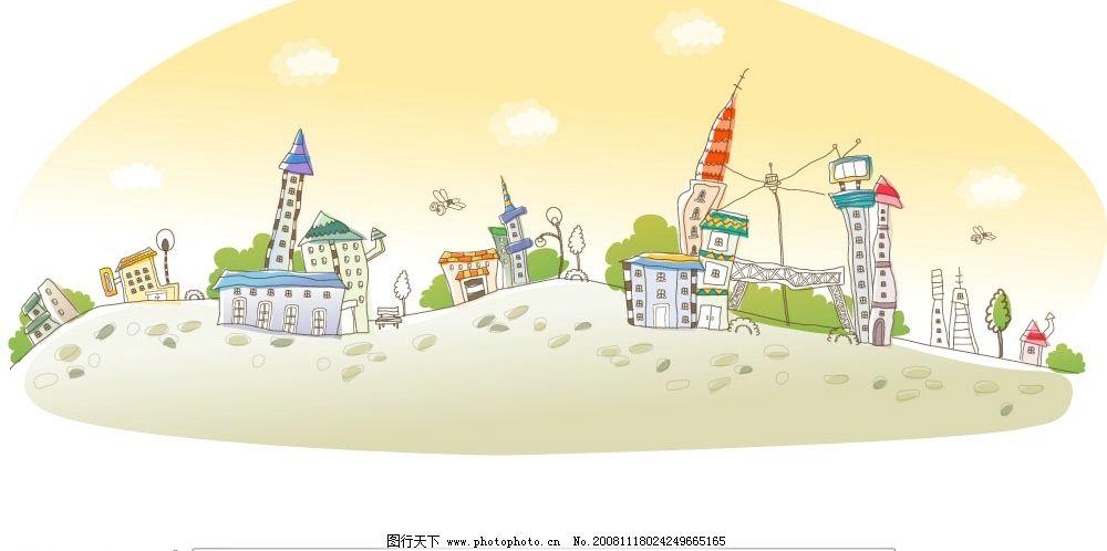 韓國手繪房子圖片