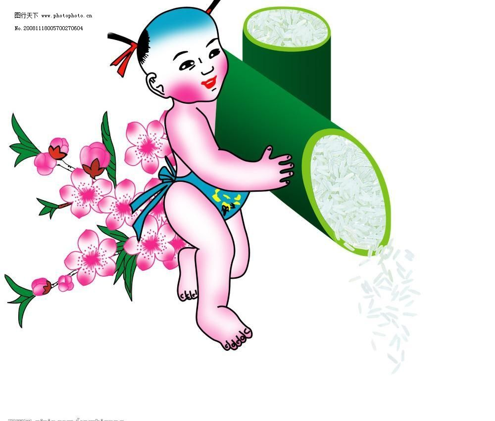 童子 童子图片免费下载 梅花 米 源文件库 竹子 童子素材下载