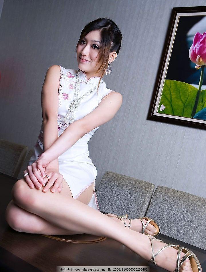 旗袍 长腿 美女图片