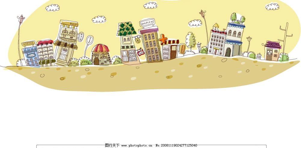 韩国手绘房子图片