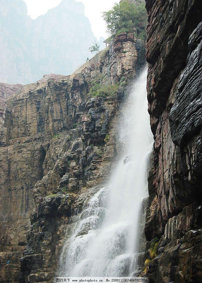 山水 风景 瀑布 自然景观 自然风景 摄影图库 300dpi jpg