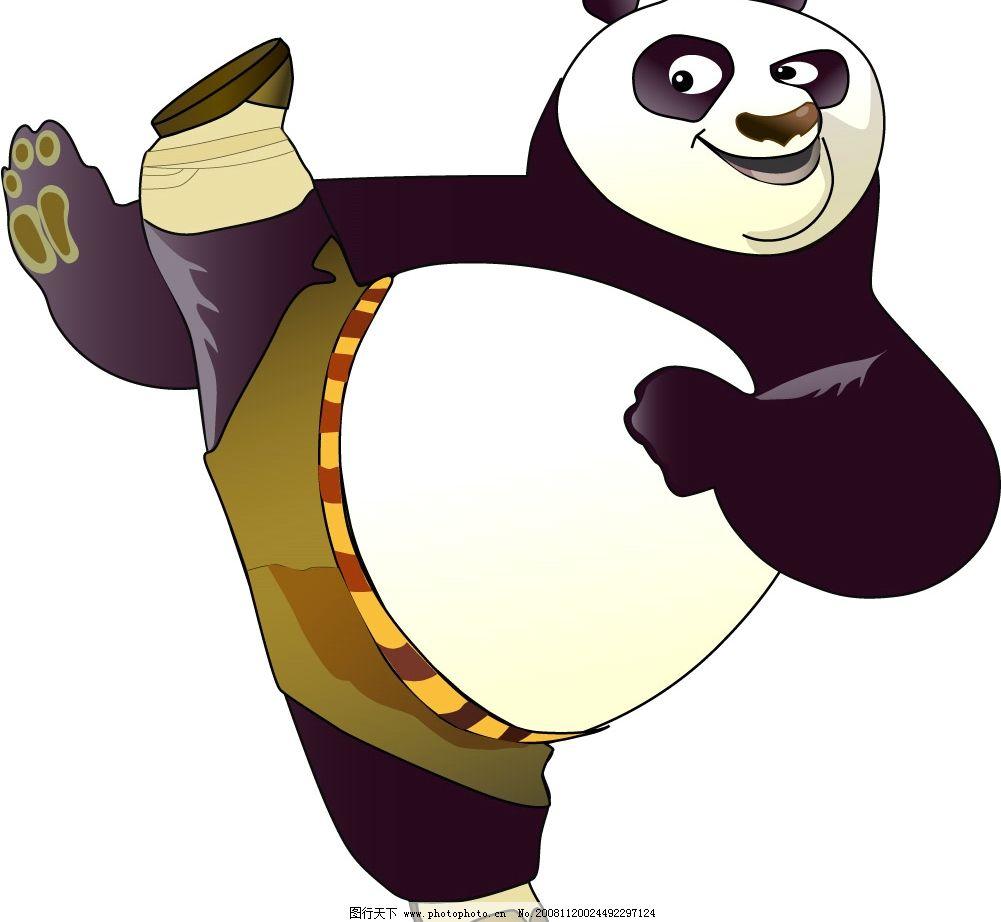 功夫熊猫 功夫 熊猫 生物世界 野生动物 矢量图库 ai