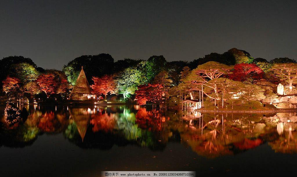 禅境·秋夜 日本 风景 美图 国外旅游 摄影图库