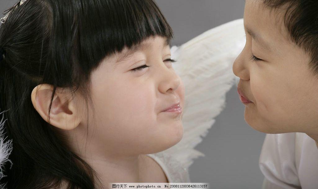 儿童天使之 儿童摄影 可爱的小女孩 可爱的小男孩 儿童 天使 人物图库