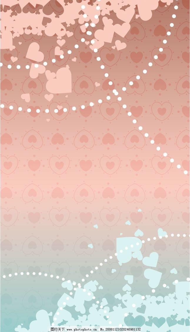 梦幻结婚背景矢量素材 矢量背景 梦幻 花朵 浪漫 爱情 婚姻 蝴蝶结
