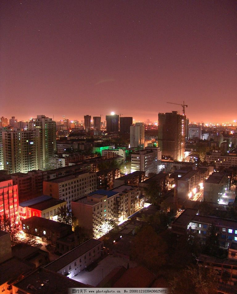 城市夜景图片,都市之夜 灯火辉煌 都市夜 俯视夜景-图