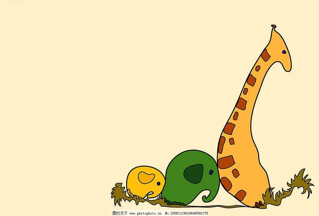 动物 漫画 卡通 鹿 可爱 小动物 画 动漫动画 其他 设计图库 72dpi