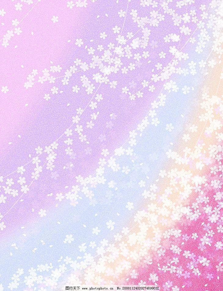 花紋 夢幻 背景 底紋 模板 花 花朵 日本 漸變 葉子 時尚 蝴蝶 生機