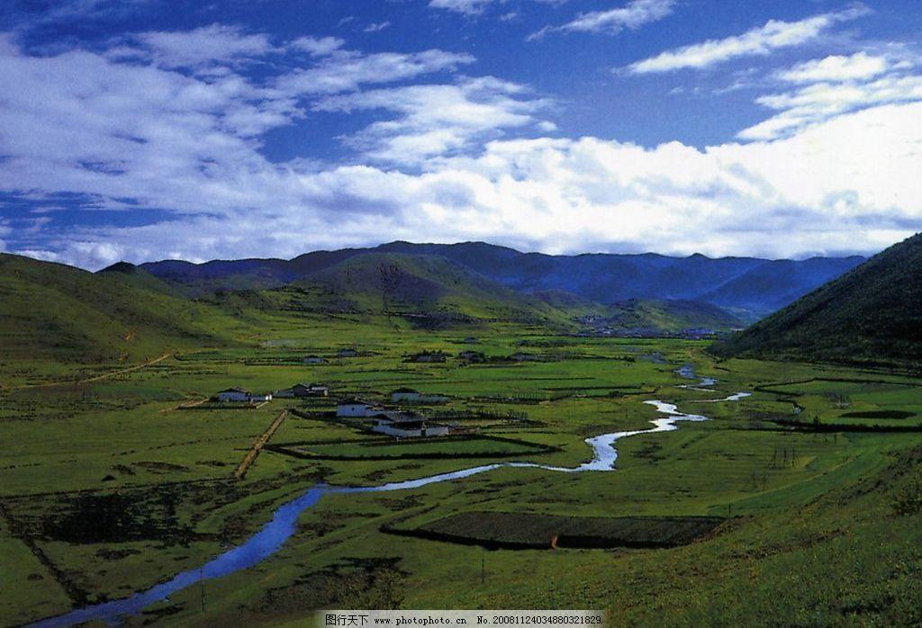香格里拉奶子河 自然景观 自然风景 摄影图库