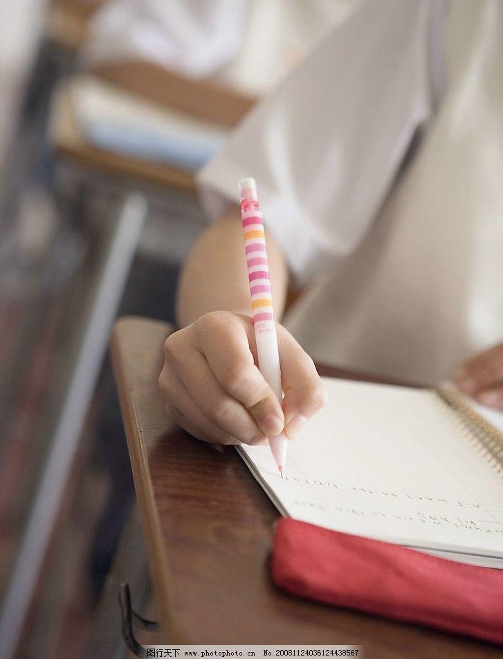 写作业 课堂 铅笔 复习 校园 生活 校服 阳光 青春 活力 活泼